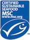 certified sensible seafood - msc logo