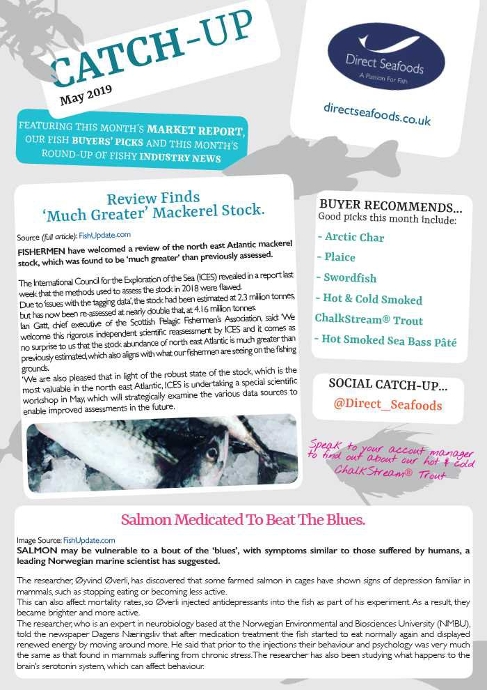 May's Catch-Up now available   Direct Seafoods